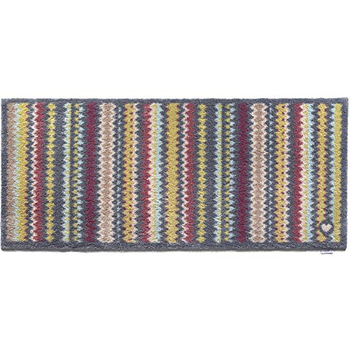 Hug Rug T226 Eco-Friendly Absorbent Dirt Trapping Indoor Washable Runner, 25.5-Inch x 59-Inch, Multi-Colored Zig Zag