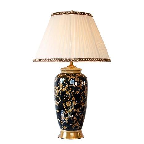 mesa salón Lámpara de de dormitorio vintage cerámica patrón JKc3TuF1l