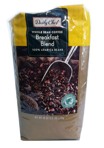 2.5 Lb Whole Beans (Daily Chef Whole Bean Coffee Breakfast Blend 2.5 lb.)