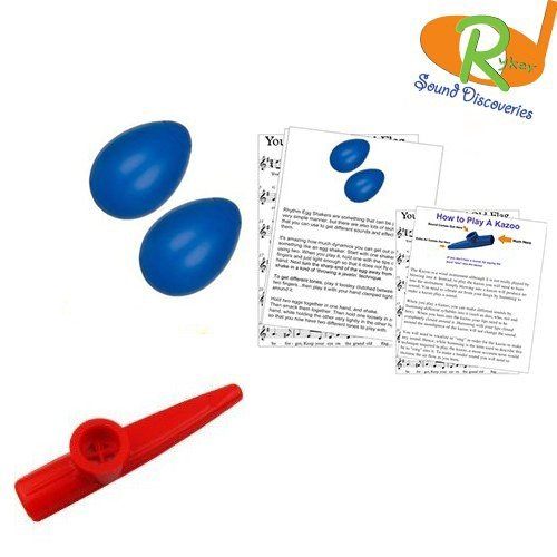 Kazoo Kids Grand - Ryker Sound Discoveries Mommy & Me Learn to Play Educational Music Pack - Rhythm Shakers/Kazoo (You'Re A Grand Ol' Flag) #RSDMMBSR15