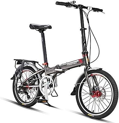 NENGGE Adultos Bicicleta Plegable, 20 Pulgadas 7 Velocidades ...