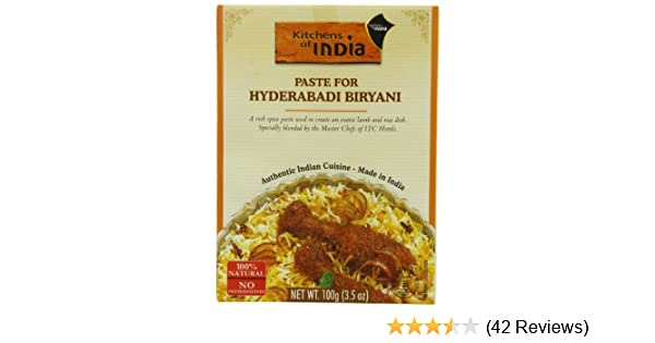Amazon.com : Kitchens Of India Curry Paste For Hyderabadi Biryani,  3.5 Ounce Boxes (Pack Of 6) : Curry Sauces : Grocery U0026 Gourmet Food