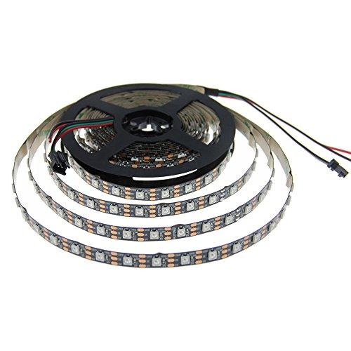 ALITOVE 16.4FT 300 Pixels WS2812B Programmable Addressable LED Strip Light Black PCB 5050 RGB dream color flex LED Rope Light DC5V Not - Email Www Com Sign Up