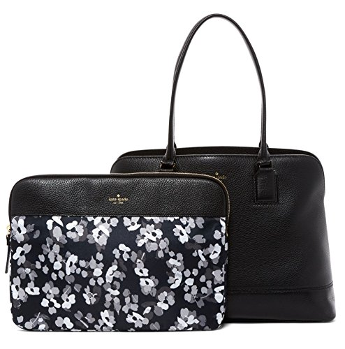 Avenue Leather Tote - Kate Spade New York Young Lane Marybeth Leather Bag With Removable Laptop Sleeve - Black,