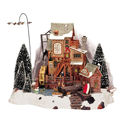 Lemax Christmas - Oak Creek Grist Mill with 4.5v Adaptor - Village Lemax Houses
