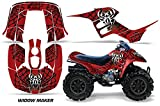 AMR Racing ATV Graphics kit Sticker Decal Compatible with Honda 90 TRX/EX Maier 1993-2005 - Widow Maker Black Red