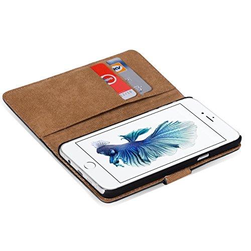 iPhone 7 Plus Bookstyle Hülle, Conie Mobile PU Leder Schutzhülle Handytasche Bookcase Tasche Premium Klapphülle in Pink