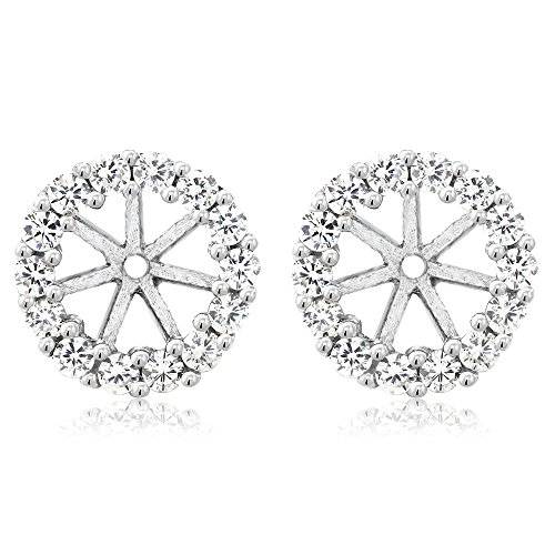 925 Sterling Silver Earring Jackets for 5mm Round Studs (Sterling Jackets Silver Earring)