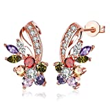Botrong Fashion Stud Dangle Earring Bridal Wedding Good Gift For Women Gift Mother's Day (Multicolor)