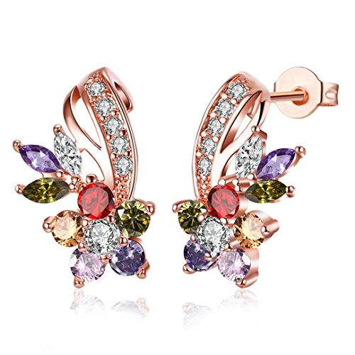 - Botrong Fashion Stud Dangle Earring Bridal Wedding Good Gift For Women Gift Mother's Day (Multicolor)