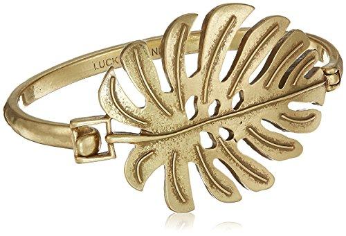 Bracelet Leaf Cuff (Lucky Brand Womens Palm Leaf Cuff Bracelet, Gold, One Size)