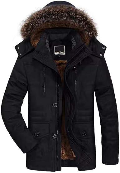 JIANYE - Chaqueta parka para hombre, cálida, abrigo de invierno con capucha, cortavientos, informal, chaqueta Negro M: Amazon.es: Ropa y accesorios