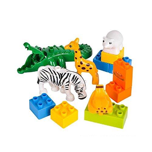 13 Pc Zoo Block Set by Bargain World