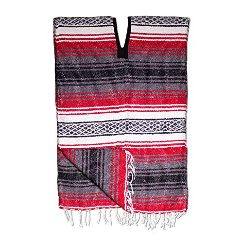 Windy City Novelties Adult Stripe Poncho Black