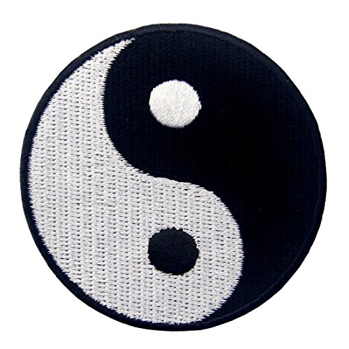 - Yin Yang Chinese Taoism Symbol Embroidered Badge Iron On Sew On Patch