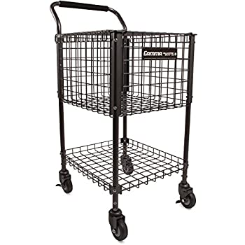 Image of Gamma Sports Premium Tennis Teaching and Travel Carts - Unique Sports Equipment, Large Ball Capacity, Heavy Duty Designs, Ideal Training Court Accessories Ball Hoppers