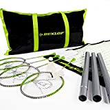 Dunlop Badminton Outdoor Lawn Game: Classic Backyard Party Sports Set with Carrying Bag