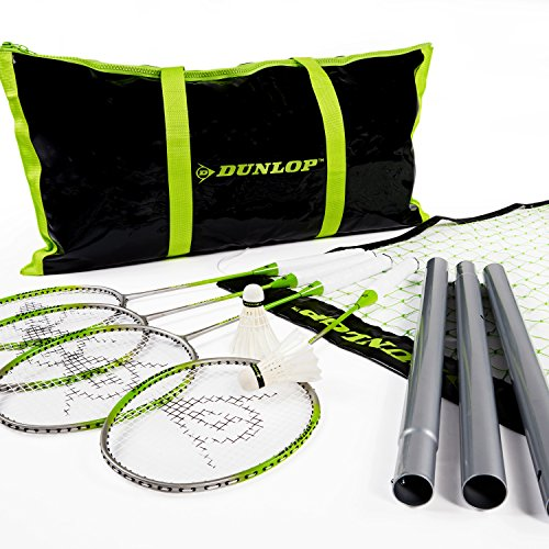 Dunlop Badminton Outdoor Lawn Game: Classic Backyard Party Sports Set with Carrying Bag by Dunlop