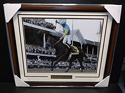 KENTUCKY DERBY Triple Crown AMERICAN PHAROAH Victor Espinoza FRAMED 16X20 PHOTO