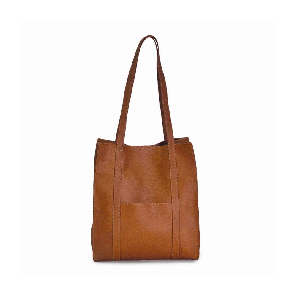 Tan Tote Bag w/ Front Pocket