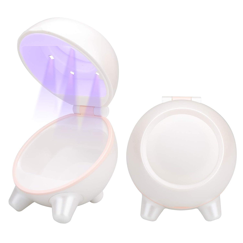 Summstar Beauty Blender Case with U&V Light, U&V-C Holder for Makeup Sponge Brush, EPA Est. 96870-CHN-1 (White)