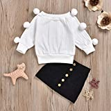 Kids Baby Girl Winter Skirt Outfit Set Ball