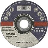 SBS - Schlö�er Baustoffe - Disco de corte (acero inoxidable, 50 unidades, 125 x 1 mm)