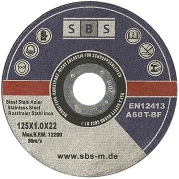 Neu 50 Stück SBS Inox Trennscheiben 125 x 1,0 mm: Amazon.de: Baumarkt VD56