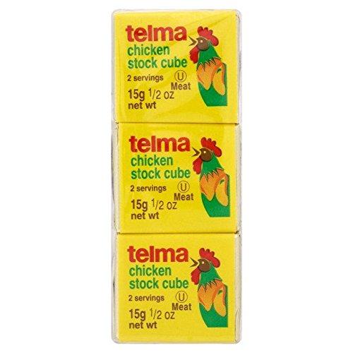 Stock Chicken Cubes (Telma Chicken Stock Cubes - 3 x 15g)