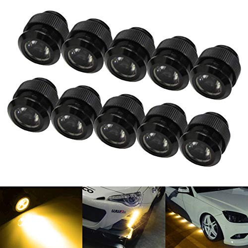 iJDMTOY 10pc 30W High Power Flexible LED Lighting Kit For Daytime Running Light or Under Car Puddle Light, 3000K Selective Yellow