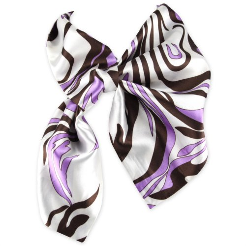 Womens Silky Neckerchief Scarves Fashion Pattern Easy Tie Neck Scarf - Avant Garde Animal Print