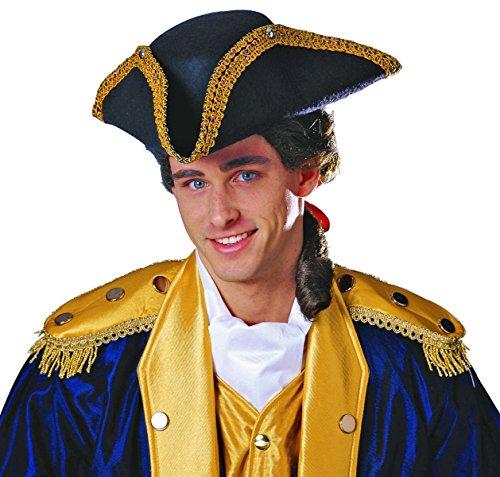 Costume Culture Men's Tricorn Hat Deluxe, Black, One -