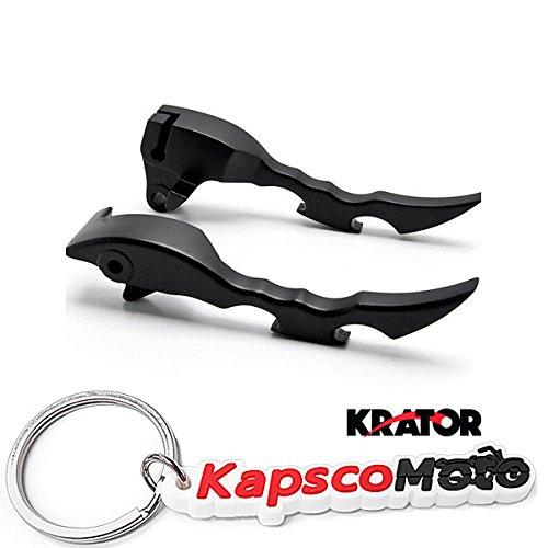Krator NEW Black Blade Brake Clutch Hand Levers For Suzuki Boulevard M109R 2009-2013 + KapscoMoto Keychain