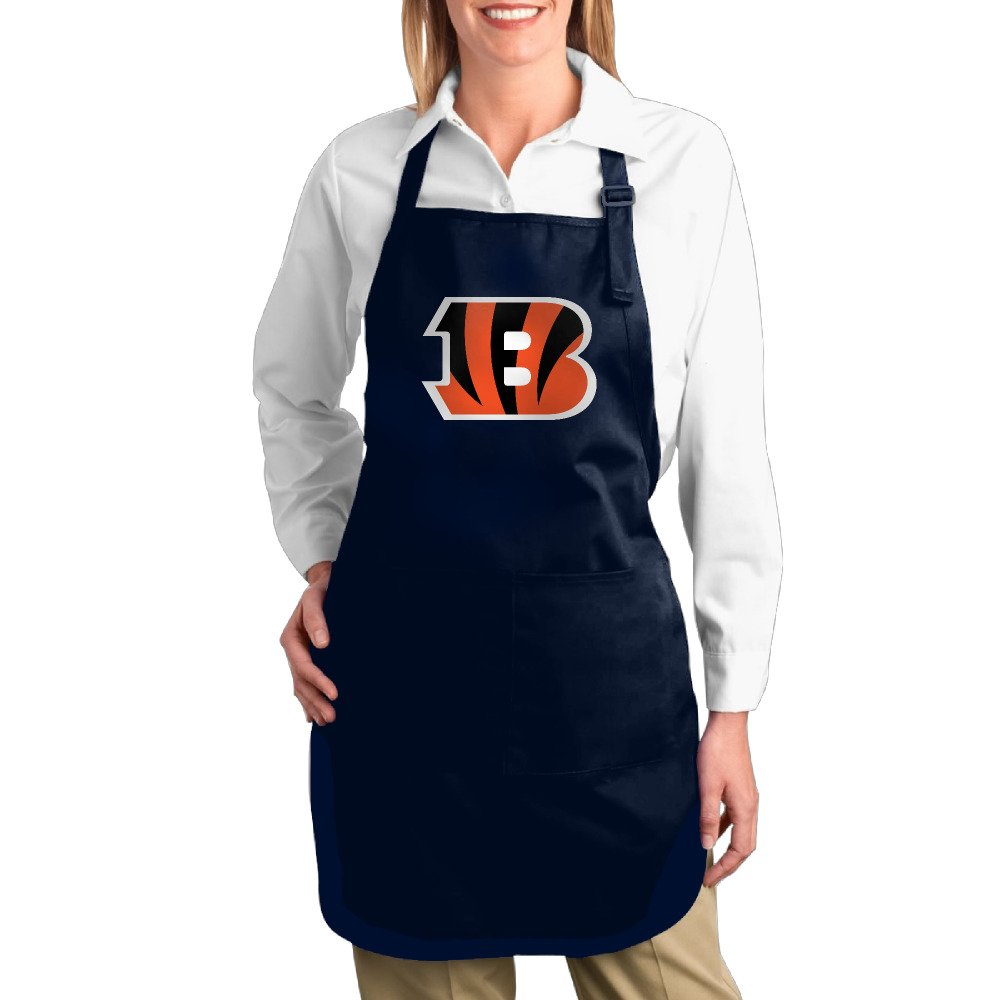 Hotel Waitress Apron With Pocket Cincinnati Bengals Twill Cotton Cooking Durable Adults Cotton Apron Bibs Funny Gifts