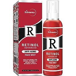 StBotanica Retinol Advanced Anti Aging Face Mist – With Hyaluronic Acid, Vitamin C, E, Matrixyl 3000 & Botanical…