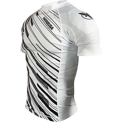 Hayabusa Metaru Charged Short Sleeve Rash Guard (White, XL)