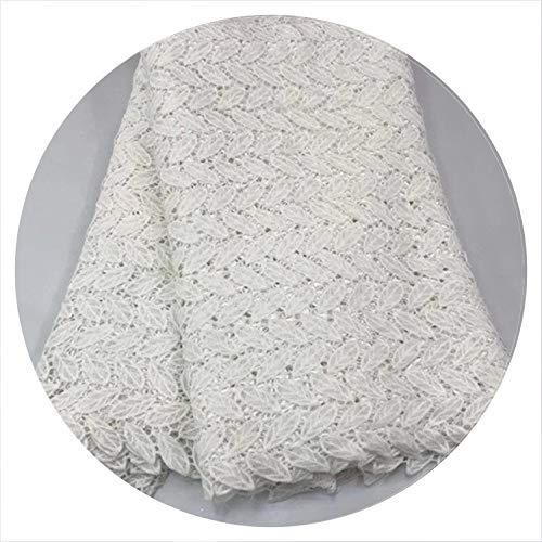 2019 Latest African Guipure lace White Water Soluble Chemical lace Fabric, African Cord lace rfno252,1