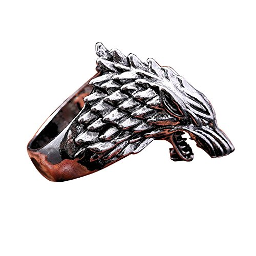 V-ZONE Ice Wolf Stainless Steel Silver Ring Inspired by Game of Thrones (8)