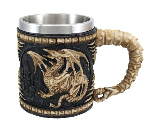 Dragon Skeleton Tankard 12 oz. Mug