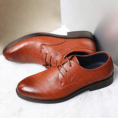 Talla US de Zapatos US para Azul de Hombres Hombre 8 7 Cuero HhGold UK de para tamaño Boda 5 5 para Azul 7 Color 5 Marrón Color Zapatos Formal UK Hombre 5 6 Cordones Zapatos n1wqxzP0UA