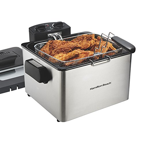 Hamilton Beach (35035) Deep Fryer, With Basket, 4.5 Liter Oil Capacity, Electric, Professional Grade Deep Fat Turkey Fryer