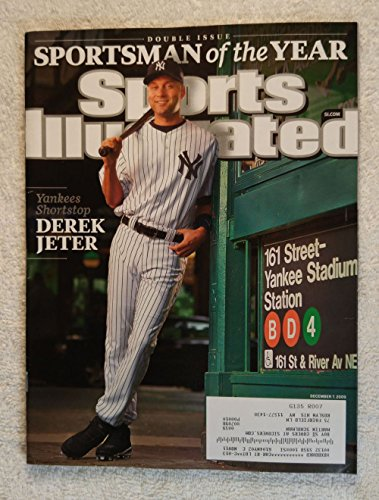 2009 Sports Illustrated Cover - Derek Jeter - New York Yankees - Sportsman of the Year - Sports Illustrated - December 7, 2009 - SI