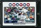Ruben Gotay - Atlanta Braves - 2008 Topps Updates & Highlights Baseball Card in Protective Screwdown Display Case!