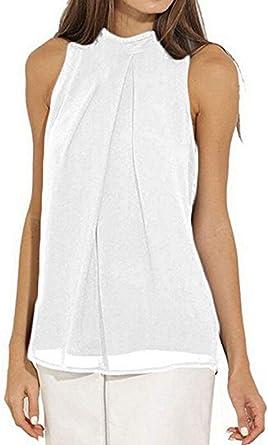 Mujer Chalecos Verano Elegantes Moda Blusas Slim Fit Anchas ...