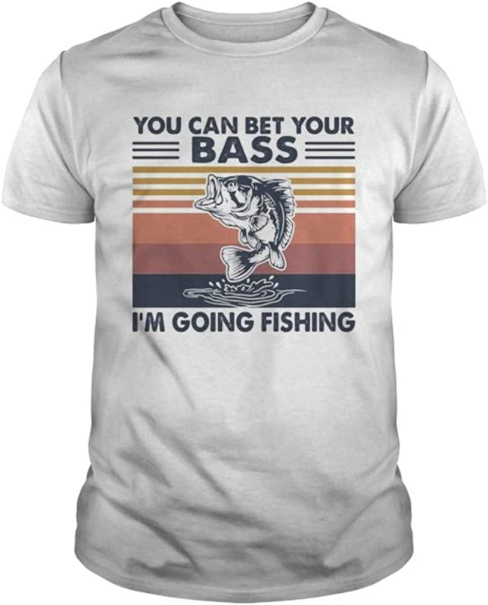 You CAN Bet Your BASS IM Going Fishing Vintage Unisex T-Shirt