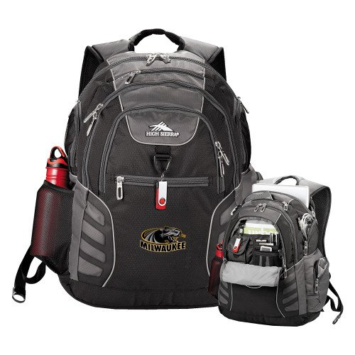 Wisconsin Milwaukee High Sierra Big Wig Black Compu Backpack 'Official Logo' by CollegeFanGear