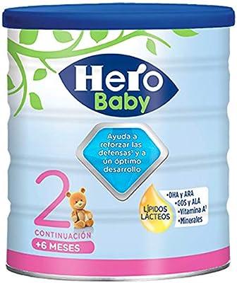 Hero Baby - Leche Hbb Nutrasense - Leche de Continuación en Polvo para Bebés de 6 a 12 Meses, Crecimiento y Desarrollo - Pack de 2 x 800g: Amazon.es: Alimentación y bebidas