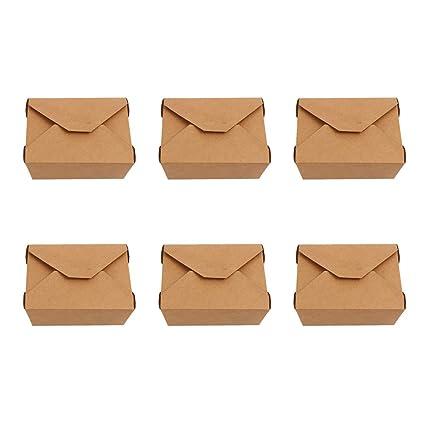 BESTonZON 20 Piezas Cajas de Papel Kraft Desechables Cajas ...