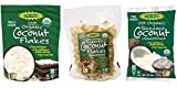 Let's Do Organic 100% Organic Unsweetened Coconut 3 Flavor Variety Bundle: (1) Organic Coconut Flakes, (1) Organic Toasted Coconut Flakes, and (1) Organic Shredded Coconut, 7-8 Oz. Ea.