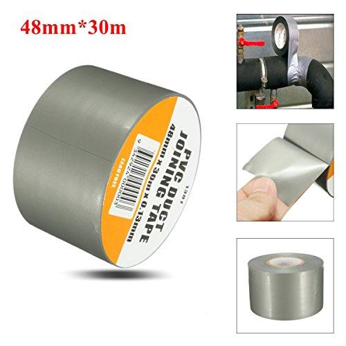 New PVC Duct Tape Waterproof Heavy Duty Gaffa Cloth Silver G